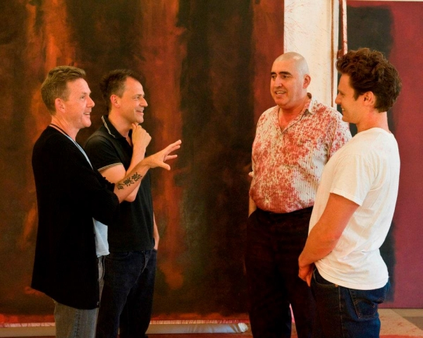 John Logan, Michael Grandage, Alfred Molina and Jonathan Groff at Inside CTG's RED Rehearsals with Jonathan Groff and Alfred Molina!