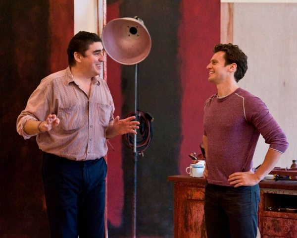 Photo Flash: Inside CTG's RED Rehearsals with Jonathan Groff and Alfred Molina!