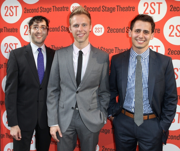 Peter Duchan, Justin Paul & Benj Pasek  at Jim Parsons, Aaron Tveit and More at DOGFIGHT Opening Night!