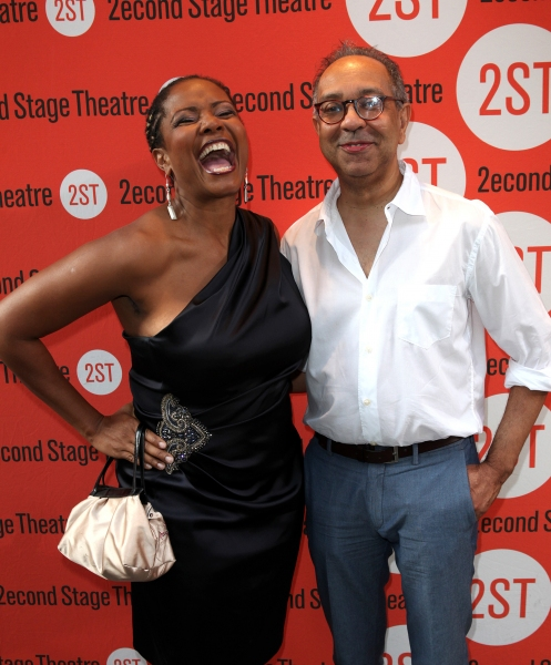 Tonya Pinkins & George C. Wolfe  at Jim Parsons, Aaron Tveit and More at DOGFIGHT Opening Night!