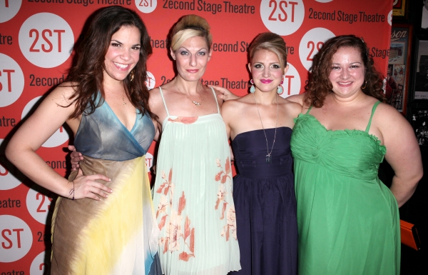Lindsay Mendez, Becca Ayers, Annaleigh Ashford & Dierdre Friel  at DOGFIGHT Celebrates Opening Night - After Party!