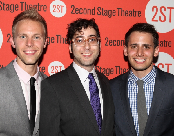 Justin Paul, Peter Duchan & Benj Pasek  at DOGFIGHT Celebrates Opening Night - After Party!