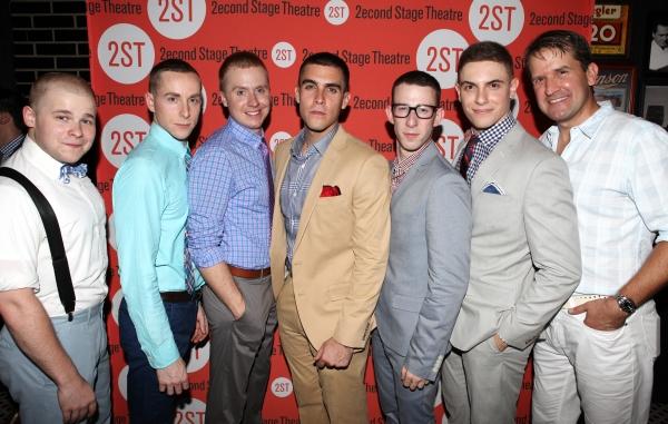 F. Michael Haynie , Adam Halpin, Steven Booth,  Josh Segarra, Nick Blaemire, Derek Klena & James Moye  at DOGFIGHT Celebrates Opening Night - After Party!