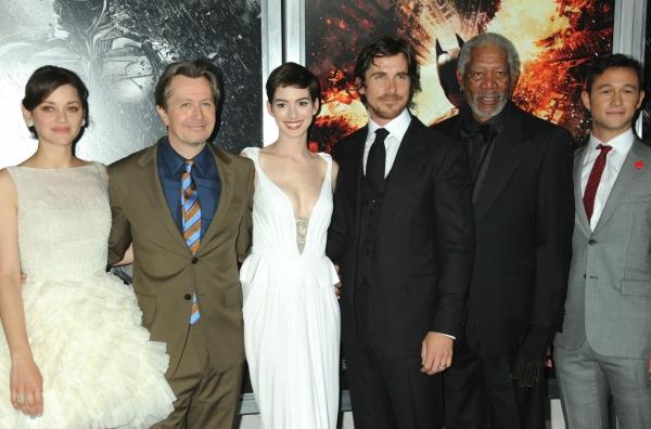 Marion Cotillard, Gary Oldman, Anne Hathaway, Christian Bale and Morgan Freeman