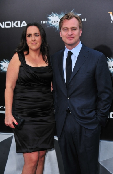Emma Thomas and Christopher Nolan at Anne Hathaway, Christian Bale at 'BLACK KNIGHT' Premiere in NYC