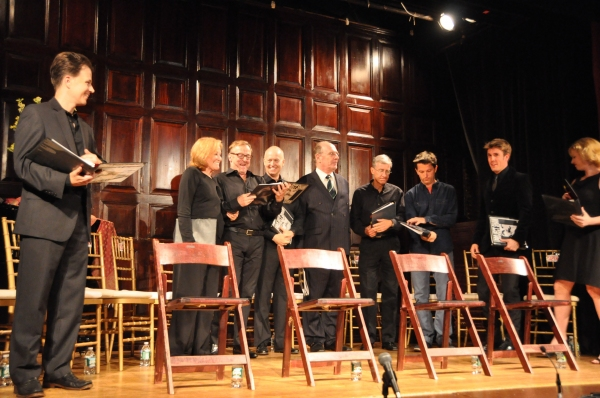 Sean McNall, Cynthia Harris, Edward Hibbert, Reed Birney, Paxton Whitehead, David Garrison, Jon Patrick Walker and Jordan Coughtry at Inside Project Shaw's GENEVA Reading