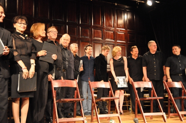 Linda Hart, Cynthia Harris, Edward Hibbert, Reed Birney, David Garrison, Jon Patrick Walker, Jordan Coughtry, Karen Stanion, Victor Slezak, Dan Daily and Robert Crieghton at Inside Project Shaw's GENEVA Reading
