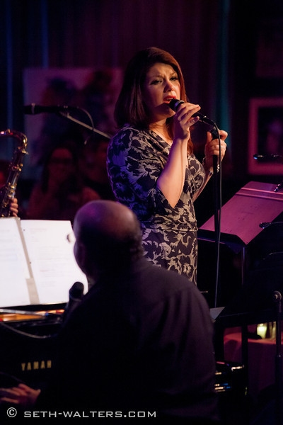 Jane Monheit at Jane Monheit, Clint Holmes, and More Visit FRANK & FRIENDS at Birdland