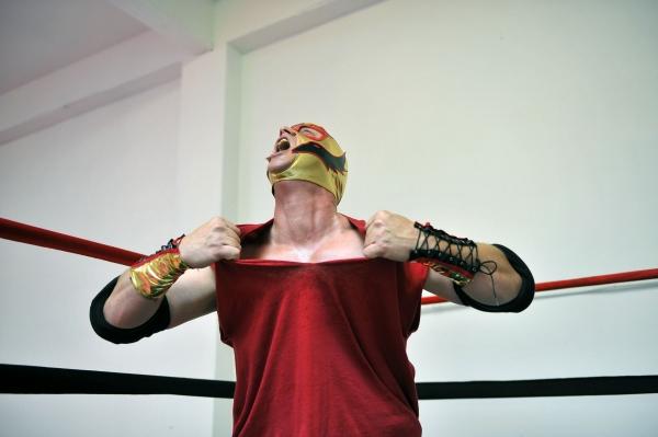 Pro-wrestler The Bad Guy (Dave Maier)