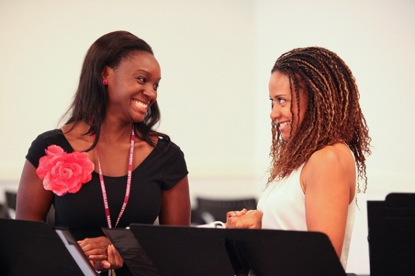 Saycon Sengbloh and Tracie Thoms at Denise Burse, Harriet D. Foy and More Rehearse Powerhouse Theater's THE HOUSE THAT WILL NOT STAND
