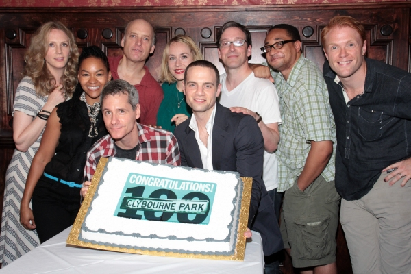 Christina Kirk, Crystal A. Dickinson, Bruce Norris, Frank Wood, Sarah Goldberg, Jordan Roth, Jeremy Shamos, Damon Gupton, Brendan Griffin at CLYBOURNE PARK Celebrates 100 Performances and Welcomes Sarah Goldberg