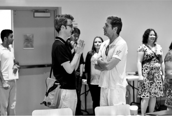 Daniel Aukin, Gary Cole at In Rehearsal with Signature Theatre's HEARTLESS