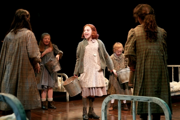 Lauren Weintraub (Annie) and the Orphans at First Look at Lauren Weintraub and Jacquelyn Piro Donovan in NSMT's ANNIE