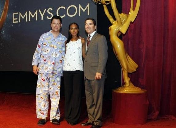 Jimmy Kimmel, Kerry Washington, Bruce Rosenblum