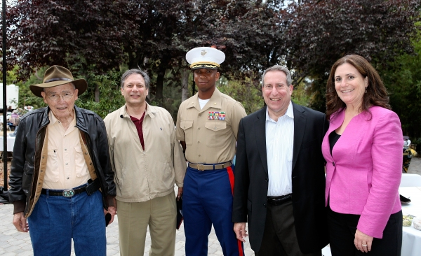 Harry Pregerson, U.S. Court of Appeals for the Ninth Circuit; Ben Donenberg, Artistic Director Shakespeare Center of Los Angeles; Dominique B. Neal, Major RS Commanding Officer Marines; Lou Koff, California Vetrans Home and wife