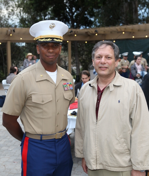 Dominique B. Neal, Major RS Commanding Officer Marines and Ben Donenberg, Artistic Director Shakespeare Center of Los Angeles