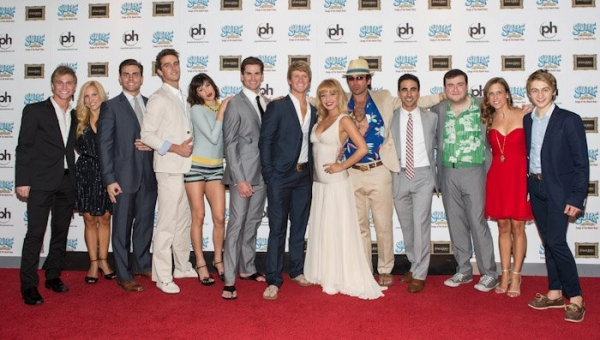 Lauren Zakrin and the cast of SURF THE MUSICAL