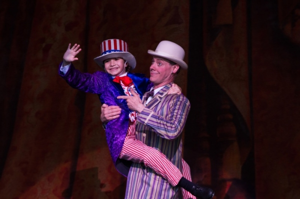 Miles Marmolejo as Young George M. Cohan and Robb McKindles as Jerry Cohan