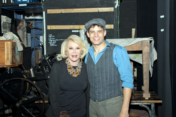Joan Rivers, Jeremy Jordan at Joan Rivers Visits NEWSIES!