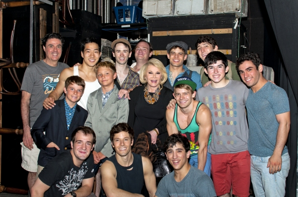 Joan Rivers and cast of NEWSIES at Joan Rivers Visits NEWSIES!