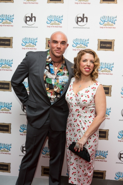 Kristin Hanggi and Rye Mullis at Production Photos and More Red Carpet Shots of SURF THE MUSICAL