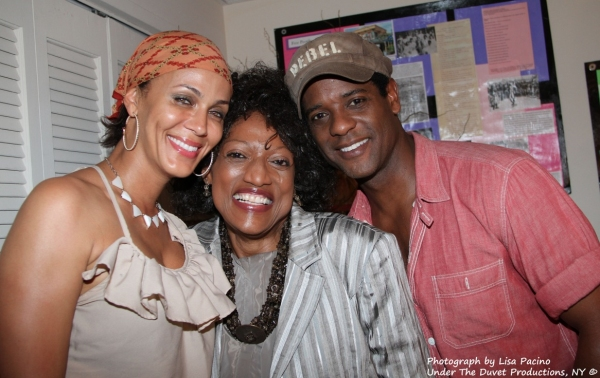Jessye Norman visits STREETCAR Stars Nicole Ari Parker and Blair Underwood