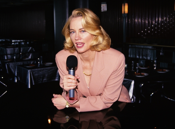 "Cybill Shepherd pictured rehearsing for her singing engagement at ""Rainbow and Stars"" in New York City on July 13, 1994."
