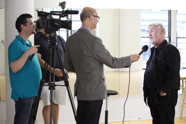 Jonathan Frank with Richard Ridge interviewing Director Christopher Martin Photo