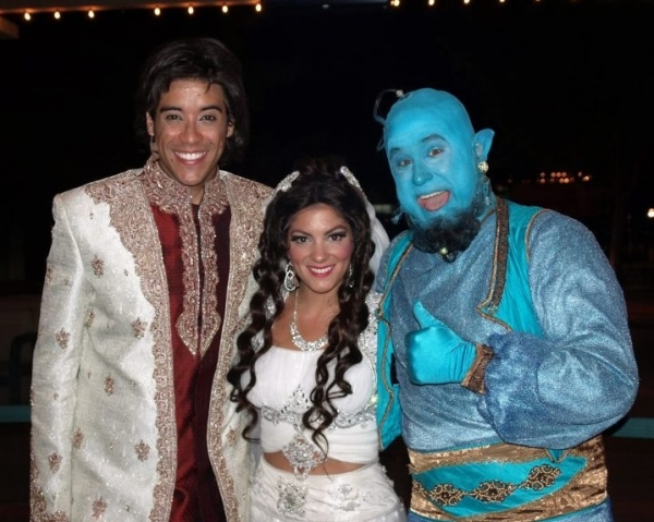 Dan Domenech, Haley Carlucci and Edward Juvier at First Look at Disney's ALADDIN at Tuacahn