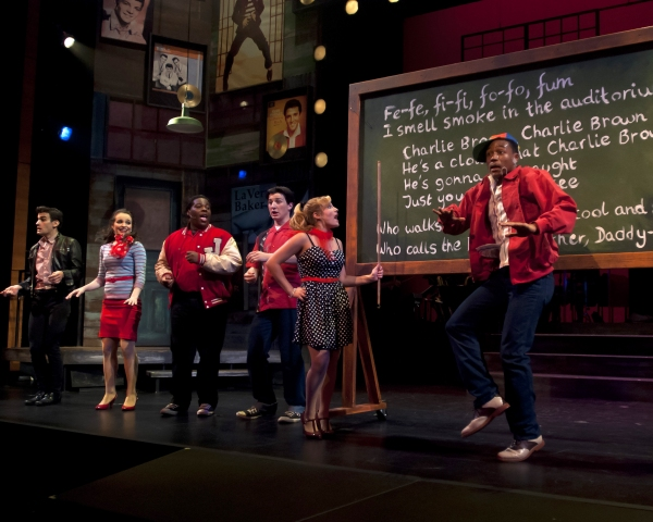 Alex Thompson and the Cast of Smokey Joe's Cafe (Adam Biner, Carolyn Ferraro, Dion Gr Photo