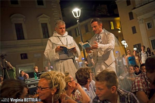 Lello Abate, Cristian Ruiz e il pubblico at 'Fantasmi a Roma', lo show-case