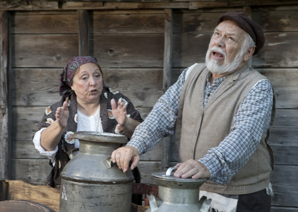 Agnes Broberg as Golde and Neal Barth as Tevye