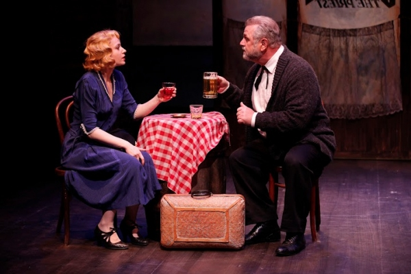 Margaret Loesser Robinson (Anna) and Cliff Bemis (Chris Christopherson)