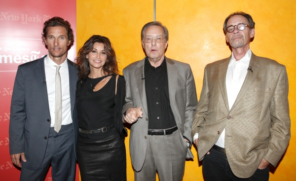 Matthew McConaughey, Gina Gershon & William Friekin backstage at 'TimesTalks: Stage To Screen' with David Carr