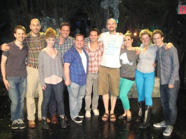 Photo Flash: Jared Gertner & Colin Hanlon Visit TRIASSIC PARQ at SoHo Playhouse